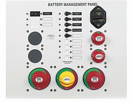 Battery Management panel s baterijskim sklopkama